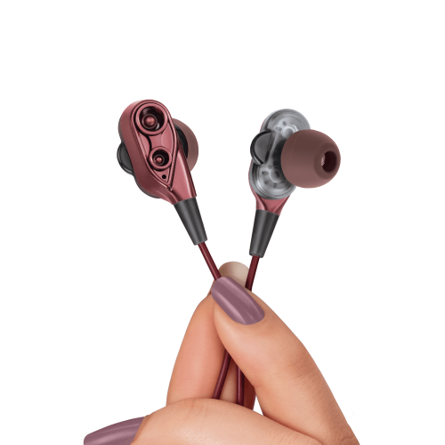 wired-earphones - Dual Driver MusiPods W6