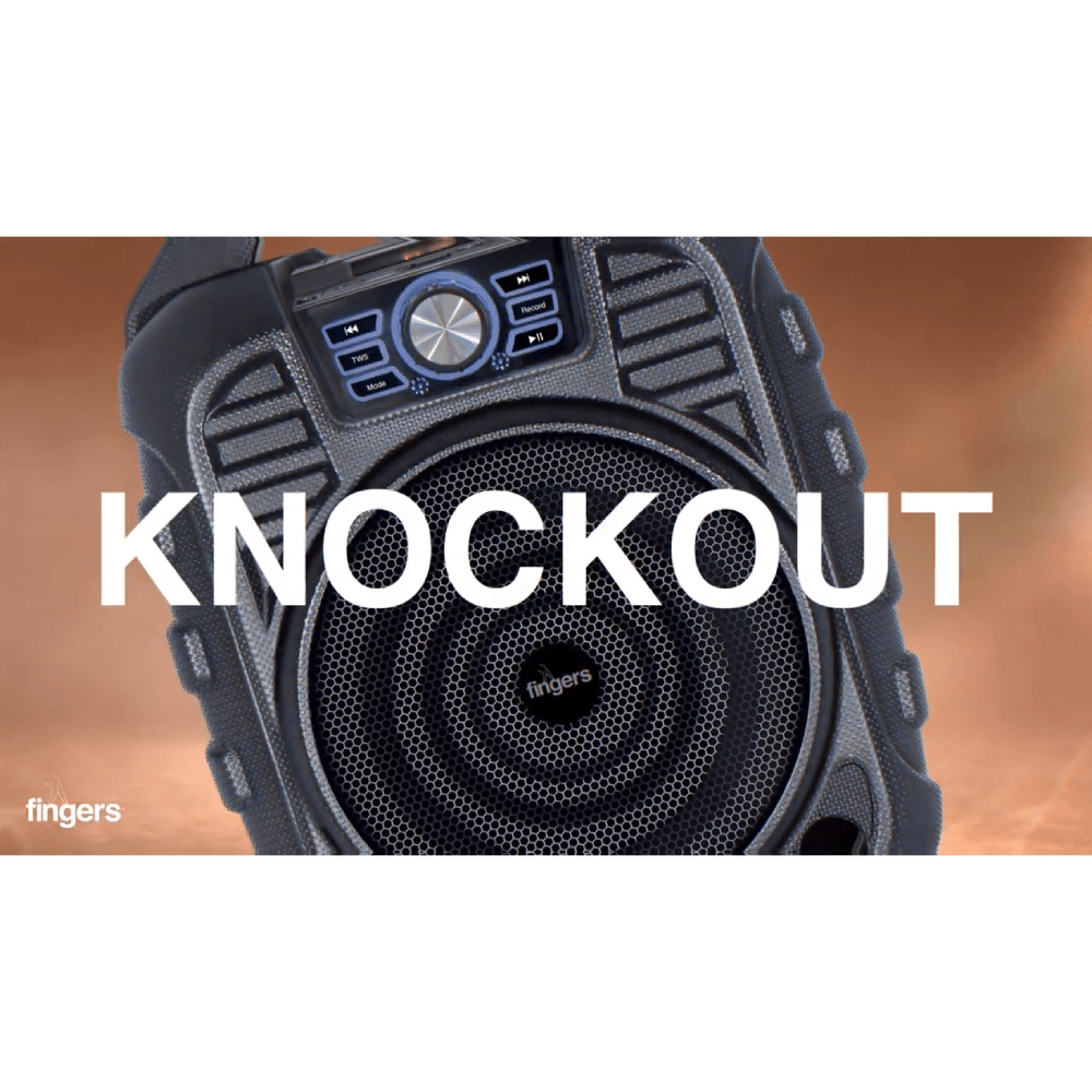 Fingers Knockout - Black in Portable Speakers